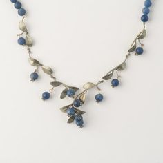 Blueberry Necklace - Beaded by Michael Michaud