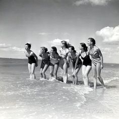 """Marquis De Cuevas"""" Company on the Beach at Deauville: 7 Girls, 7 Nationalities"""