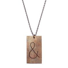 and or & sign necklace - Ampersand Necklace, $28, now featured on Fab.