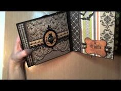 So Much Scrap - 6x6 All Hallows' Eve Mini-Album Part II - time 4:51; Sept 28 2013 - NTS: she used Chillingsworth Manor paper