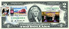 $2 DOLLARS 2009 CANCEL CENTENARY OF RAILWAYS NEW ZEALAND & LUNAR NEW YEAR  $125 Two Dollars, Year Of The Horse, Lunar New, Locomotive, New Zealand, Coins, Stamp, Money, Gift