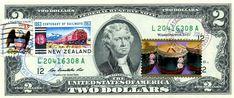 $2 DOLLARS 2009 CANCEL CENTENARY OF RAILWAYS NEW ZEALAND & LUNAR NEW YEAR  $125 2 Dollar Bill, Two Dollars, Year Of The Horse, Lunar New, Locomotive, Washington Dc, New Zealand, Coins, Stamp