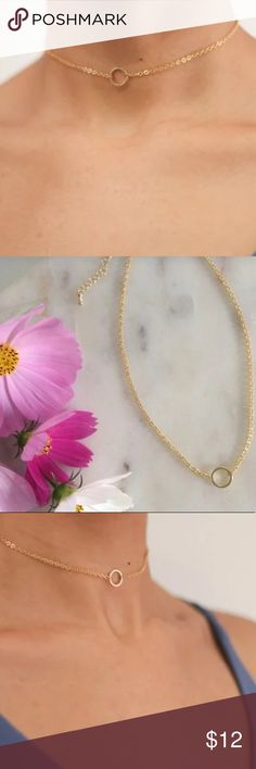 Gold or Silver Dainty Circle Choker Comes with an adjustable lobster claw clasp to loosen or tighten to your liking. Choose between silver or gold - I accept offers! ✌ Jewelry Necklaces