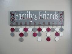 Family Birthdays, Wood Birthday Calendar Family & Friends Birthdays and Anniversaries by JackiesCraftShop, $40.00