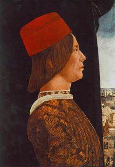 Portrait of Giovanni II Bentivoglio  c. 1480 Oil on wood, 54 x 38 cm National Gallery of Art, Washington