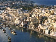 Procida is one of the Flegrean Islands off the coast of Naples Italy. The island is between Cape Miseno and the island of Ischia.