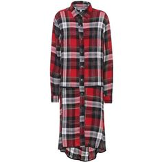 Public School Plaid Shirt Dress (13.920 CZK) ❤ liked on Polyvore featuring dresses, knee-length, multicoloured, tartan shirt dress, multi-color dress, red plaid dress, long red shirt dress and plaid shirt dresses