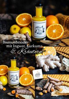 Immunbooster Drink mit Ingwer, Kurkuma und Kräutern