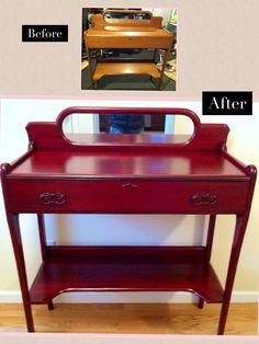Claret red / black glaze vintage sideboard