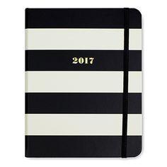 Kate Spade Black Stripe 2017 Agenda
