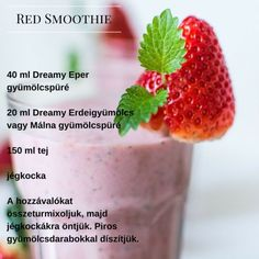 Red Smoothie recept magyarul Alcoholic Drinks, Beverages, Minden, Drinking Water, Hot Chocolate, Juice, Strawberry, Peach, Fruit