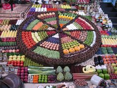 Fruit and Vegetable Display at Puyallup Fair by Carol Moshier, via Flickr