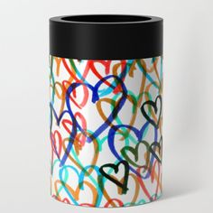 Hearts Can Cooler by beebeedeigner Summer Beach, Travel Mug, Summertime, Hearts, Seasons, Canning, Contemporary, Mugs, Tableware