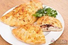Receita de Pastel assado com presunto e queijo em receitas de salgados, veja essa e outras receitas aqui!