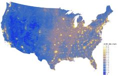 National Parks Service map shows levels of noise pollution across the US