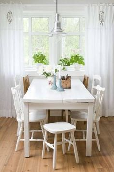 Kitchen table in Swedish country home