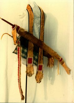 By Jim Lenoch Southern Plains style quiver Mountain lion ,wool,size 13beads new and old