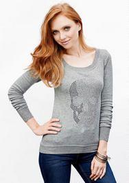 Embellished Skull Sweater