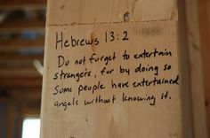 When building a new house, fill the house with scripture before the walls go up! Awesome idea.. definitely doing this.
