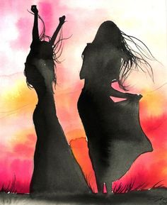 You Are Free, print from original watercolor fashion illustration by Jessica Durrant
