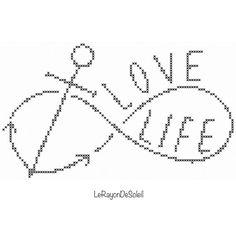 Modern+cross+stitch+pattern+infinity+love+life+by+LeRayonDeSoleil