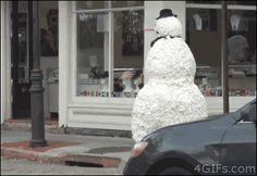 Halloween snowman