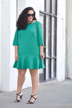 Ruffle hem plus size dress by Girl with Curves blogger Tanesha Awasthi