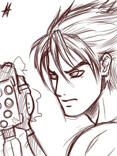 Jin Kazama sketch by *MauroIllustrator on deviantART