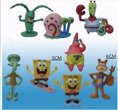 Animação 8 pçs/lote SpongeBob Modelo Mão para fazer Figura de Ação Brinquedos Clássicos Boneca de Vinil Boneca Bonito Dos Desenhos Animados Bob Esponja crianças brinquedos em Figuras de ação & Toy de Brinquedos Hobbies & no AliExpress.com   Alibaba Group
