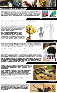 Cosplay Tutorial Page 1: Foam Bending Intro by ~HoiHoiSan on deviantART