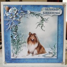 Lorraine Lives Here: Collie Christmas card