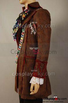 Alice In Wonderland Johnny Depp Mad Hatter Jacket Costume                                                                                                                                                                                 More
