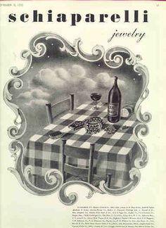 vintage Schiaparelli jewelry ad