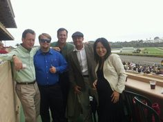 DigitalMojo team members placing bets and enjoying the horse races at the Del Mar Thoroughbred Club!