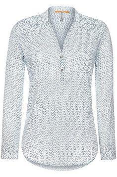 Blusa de algodón con estampado elegante: 'Efivee_5', Verde