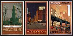 Arthur A.Johnson - Chicago transit posters, 1926