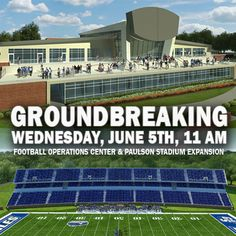 President Brooks Keel invites all Eagle fans to the groundbreaking ceremony for the Football Operations Center and Paulson Stadium expansion to be held Wednesday, June 5th at 11 a.m. at the east end zone. Access Glenn Bryant Field at Gate 4 near the Bishop Field House.