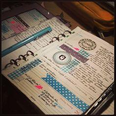 Week 4, second part. #agenda #calendar #diary #journal #planner #planneraddict #Organizer #productivity #filofaxsupplies #filofaxlove #iloveitall #iloveitalketsy #planneraddict #stickers #dot #dots #polka #polkadots #blue #owl