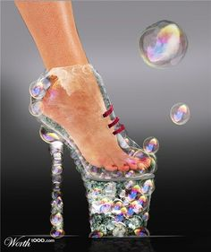 funky bubble high heels