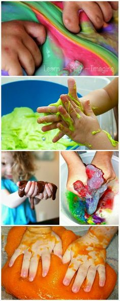 15 incredible slime recipes including textured slimes, scented slimes, and even edible slimes!