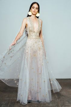 Constellation dress with cape by Cucculelli Shaheen Unusual Wedding Dresses For The Non-Traditional Bride Unusual Wedding Dresses, Alternative Wedding Dresses, Gorgeous Wedding Dress, Wedding Dresses Non Traditional, Dress Wedding, Unusual Dresses, Unconventional Wedding Dress, Perfect Wedding, Wedding Ceremony