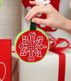 Snowflake Ornaments - A perfect project for a snowy day!