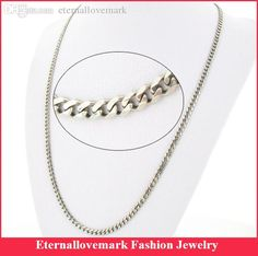 Wide 4.6mm Stainless steel cuban link chain necklace fashion jewelry for men and women MJBSN-028