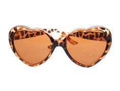 e352e18a353 Tonwhar Womens Girls Heartshape Sunglasses Cute Lolita Eyewear Leopard --  You can find out more