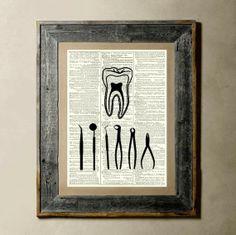 print for vintage dental office