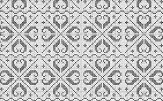All Over 02 | Free chart for cross-stitch, filet crochet | gancedo.eu