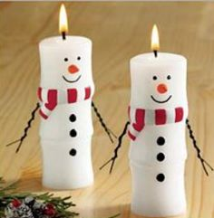 Picture result for candles decorate Christmas - Svíčky Christmas Snowman, Christmas Holidays, Christmas Ornaments, Modern Christmas, Scandinavian Christmas, Snowman Crafts, Holiday Crafts, Christmas Candles, Christmas Decorations