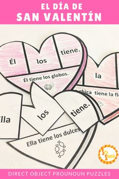 524 best ap spanish language culture content for teaching images Language Skills direct object pronouns spanish valentine s puzzle and practice