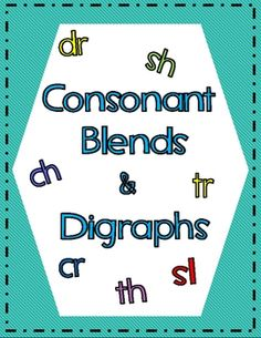 These worksheets are just the thing your students need to learn about consonant blends and digraphs! #consonantblends #digraphs