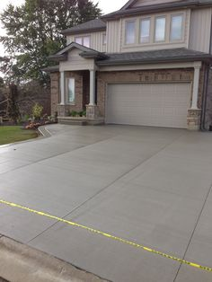 Pattern In Concrete Driveway Early Acres Front Porch